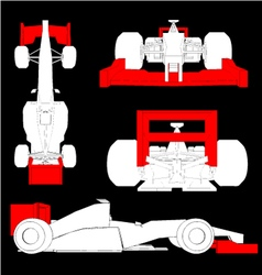 Aerodynamics racing car vector