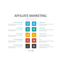 Affiliate marketing infographic 10 option concept vector