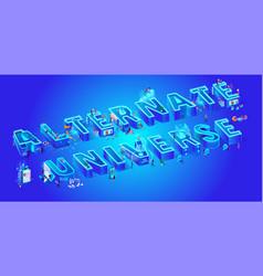alternate universe isometric vector image