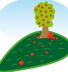 Apple tree vector image