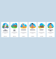 Australia website and mobile app onboarding vector