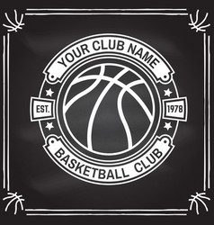 Basketball club badge concept for shirt vector