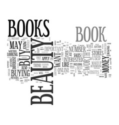 Beauty books are they worth your money text word vector