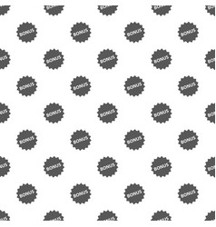 bonus sign pattern seamless vector image