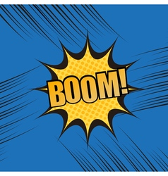 Boom comic book cartoon template vector image
