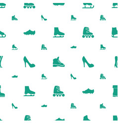 Boot icons pattern seamless white background vector