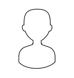 Businessman avatar line icon vector