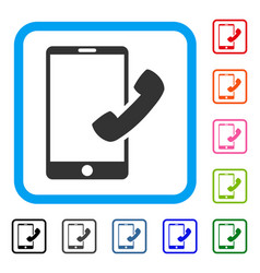 call smartphone framed icon vector image