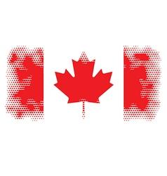 Canada flag halftone vector