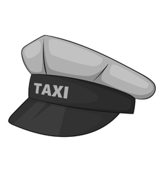 Cap taxi driver icon gray monochrome style vector image