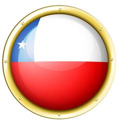 chile flag on round badge vector image