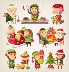 Christmas elves vector