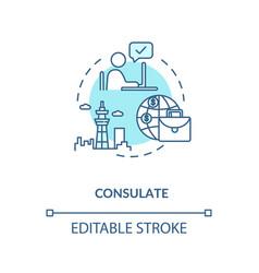 Consulate concept icon vector