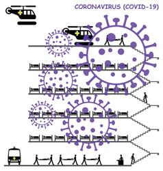 Coronavirus covid 19 hospital vector