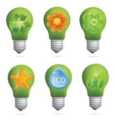 creative eco bulb set vector image