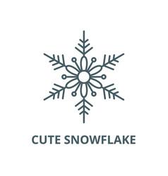 cute snowflake line icon cute snowflake vector image