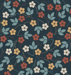Decorative seamless pattern with flowers and vector