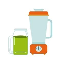 Detox and blender icon Organic food design vector