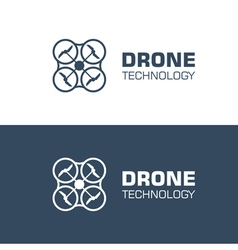 drone logo template vector image