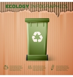 Ecology infographics background vector