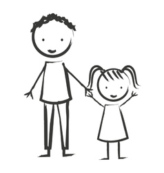 Family members isolated icon vector
