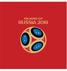 Fifa world cup russia 2018 template design vector