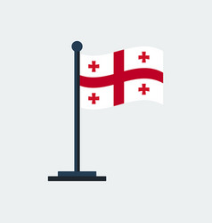 flag of georgiaflag stand vector image