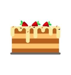 Flat cake icon logo isolated white background vector image