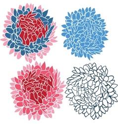 Flower bouquet set vector image vector image