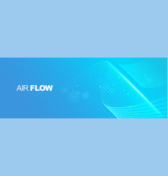 Flowing particles with depth field air flow vector