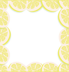 fresh slice of a lemon background vector image