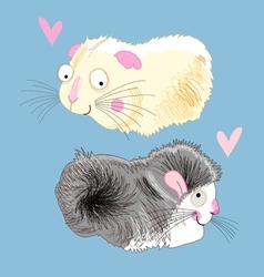 fun loving hamsters vector image