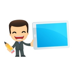 funny cartoon boss vector image