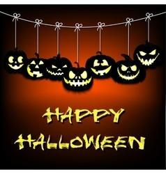 Garland of pumpkins halloween vector