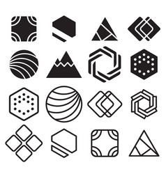 Geometric abstract contour shapes with different vector