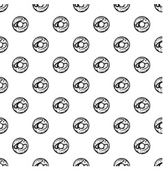 Glazed donut pattern vector