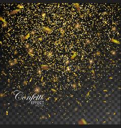gold glittering star dust vector image vector image