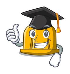 Graduation construction helmet character cartoon vector