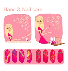 Hand Nail care vector image