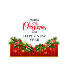 happy christmas decor vector image