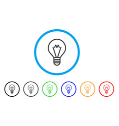 Hint lamp rounded icon vector