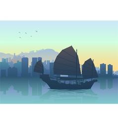 Hongkong Cityscape vector image
