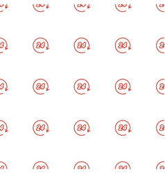 Hours icon pattern seamless white background vector
