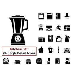 icon set kitchen vector image