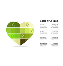 Infographic template heart symbol vector