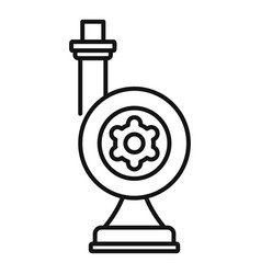 Irrigation turbine icon outline style vector
