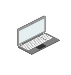 laptop on white background 3d vector image