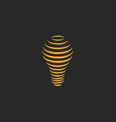 light bulb lamp logo symbol creative imagination vector image