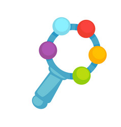 Little toy with colorful balls vector