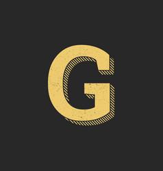 logo letter g gold vintage vector image